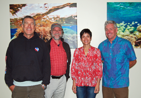 From left to right: Josh Floum, David Phillips, Sumona Majumdar, David McGuire. Mark J Palmer / International Marine Mammal Project