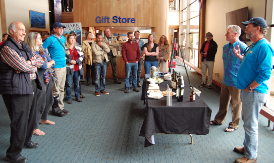 Presentations at the event. Mark J. Palmer / International Marine Mammal Project