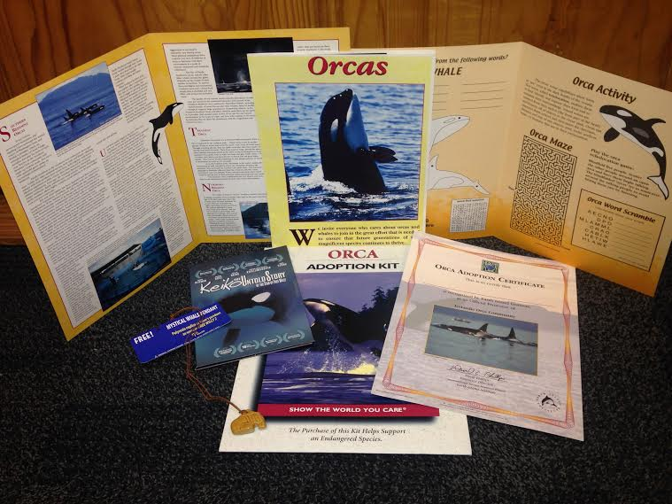 The Keiko Adoption Kit includes Keiko photo, movie, whale pendant & more! Order yours today.